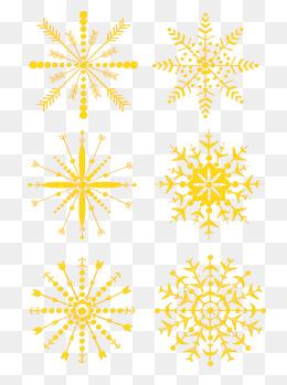 冬雪花卡通简约手绘圣诞节雪花装饰素材设计图片
