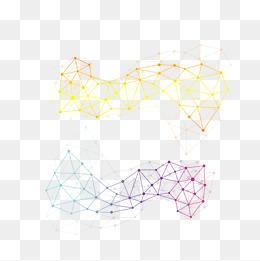美学抽象平面科技几何线条不规则图形图片