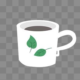 茶叶矢量卡通马克杯图片
