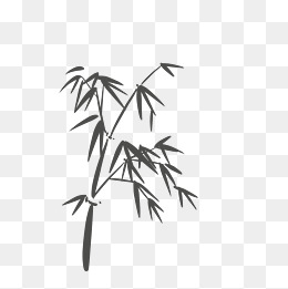 黑色水墨竹子图片