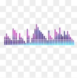 音乐创意渐变曲线声线矢量素材图片