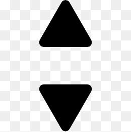 向上和向下的小三角箭头图标图片