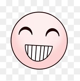 手绘卡通表情可爱龇牙的笑脸图片