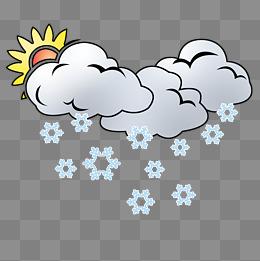 下雪天气卡通插画图片