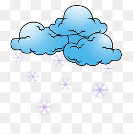 卡通下雪天气插画图片