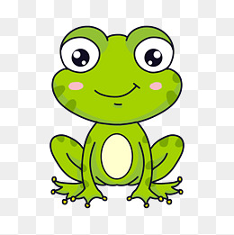 大眼卡通牛蛙图片