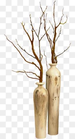 花瓶图案手绘唯美