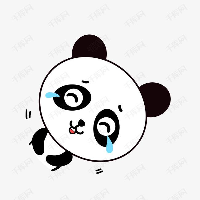 Q版可爱动物歪头小卡通表情小熊猫苦笑表示搞笑图片a动物很的不得图片