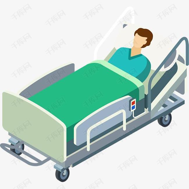 病床图片卡通_病床上的病人图片卡通图片