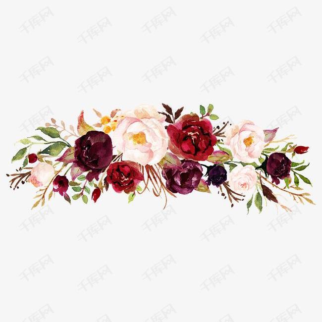 森系小清新水彩手绘绿叶花朵素材图片免费下载 高清psd 千库网 图片编号10612234