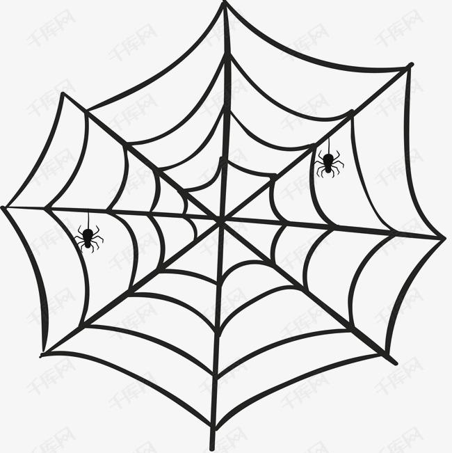 卡通蜘蛛网蜘蛛丝元素图片