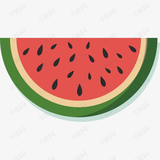 矢量图红色的西瓜