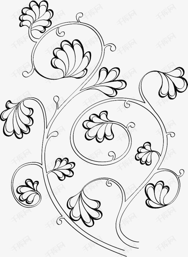 手绘藤蔓花卉素材图片免费下载 高清png 千库网 图片编号9300301