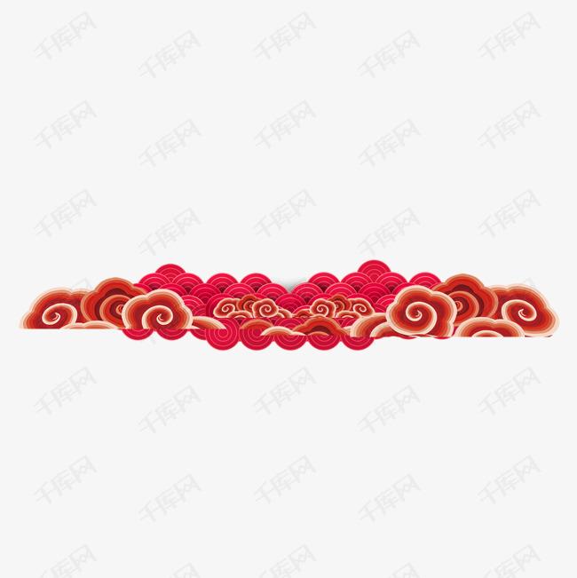 红色新年春节装饰图案
