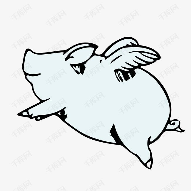 手绘小猪设计素材的素材免抠简笔画翅膀设计平面设计翅膀简笔画卡通设计手绘设计小猪设计