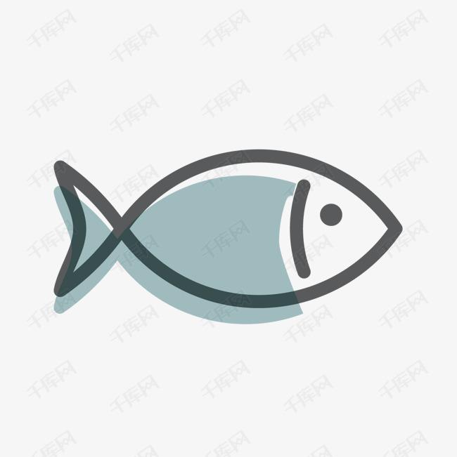 灰色手绘小鱼卡通元素素材图片免费下载 高清psd 千库网 图片编号9681962