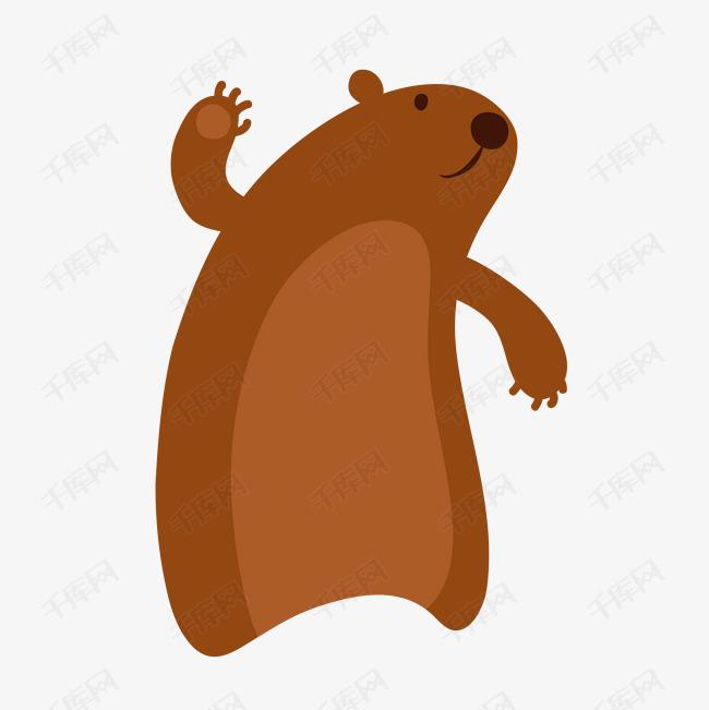 矢量手绘卡通野生棕熊免抠图png图片
