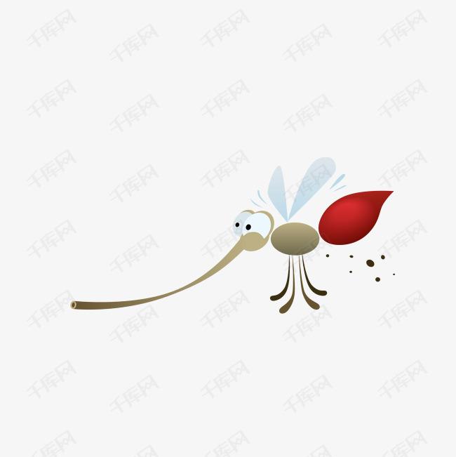 可爱的蚊子卡通画_可爱动物卡通画