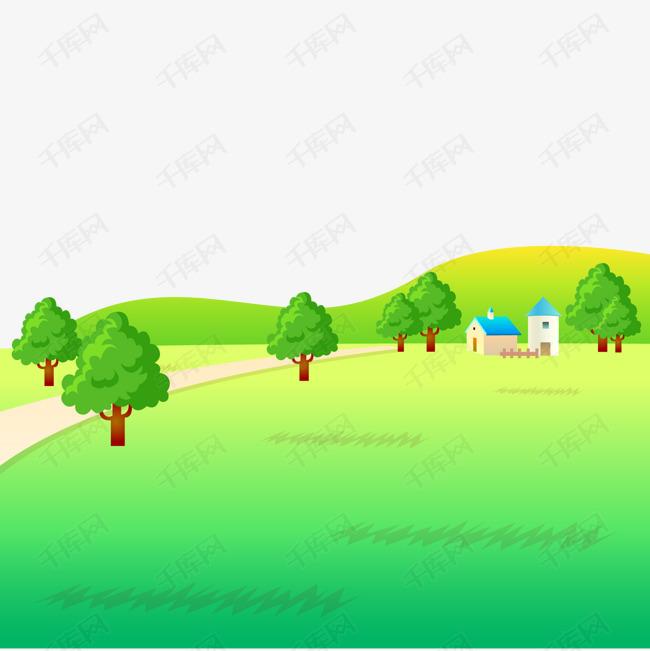 卡通郊外的风景设计图片