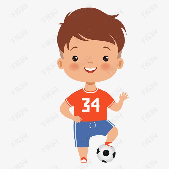 手绘卡通人物踢足球的儿童素材图片免费下载 高清png 千库网 图片编号10850900