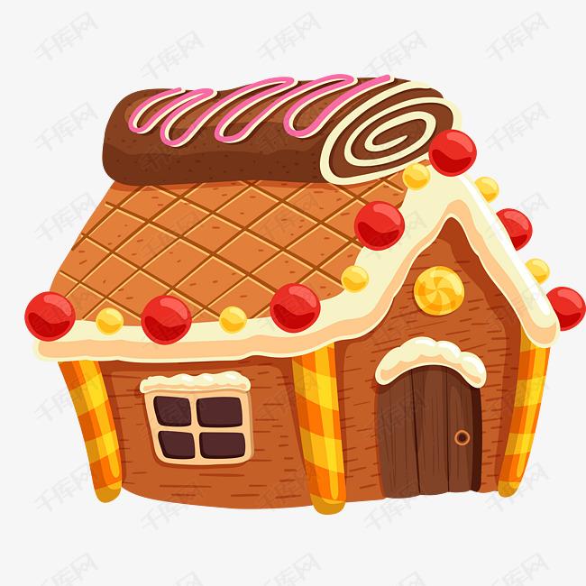 卡通蛋糕房子矢量图下载图片