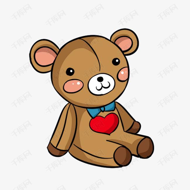 卡通手绘可爱小熊布偶图片