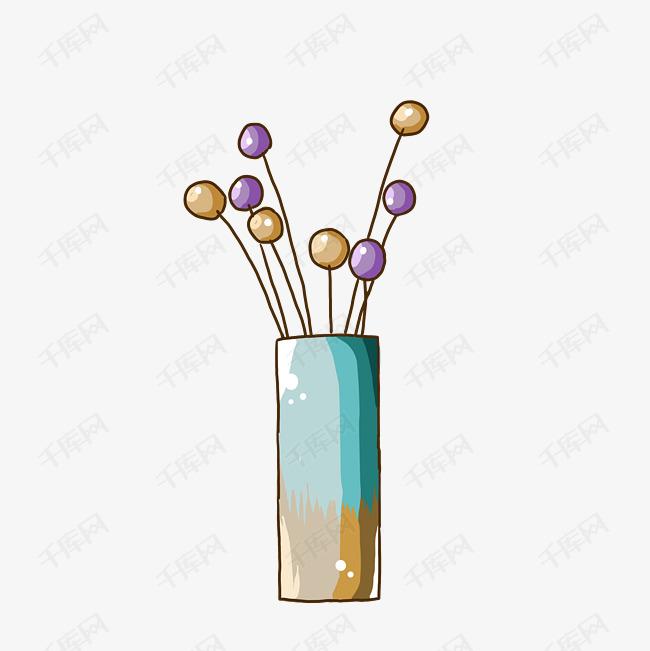 花瓶手绘简笔画小清新