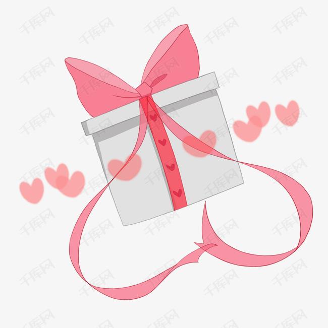 日系小清新粉色卡通可爱礼物盒素材图片免费下
