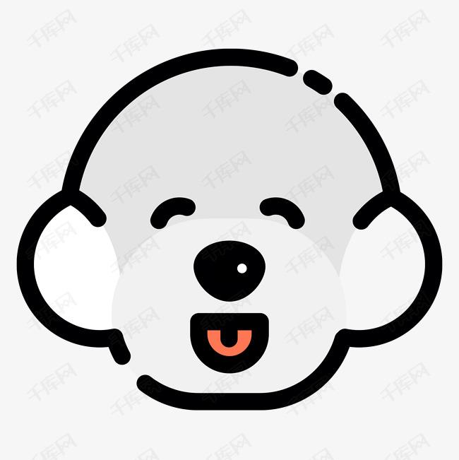 扁平卡通可爱泰迪小狗头像素材图片免费下载