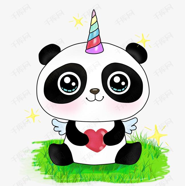 小熊猫可爱卡通图片大全_画可爱的小熊猫