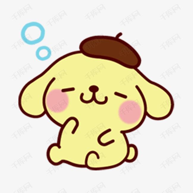卡通可爱布丁狗形象图片