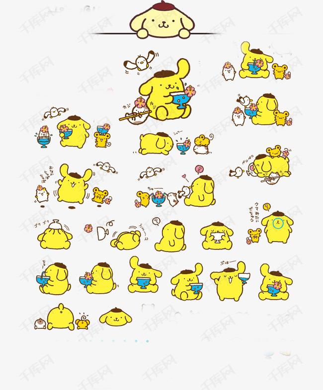 卡通可爱布丁狗矢量图片