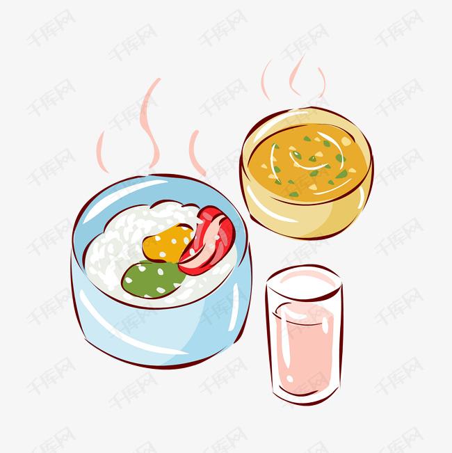 冬季热气腾腾的简笔画小清新美食小套餐素材图片免费下载 高清psd 千库网 图片编号11415276