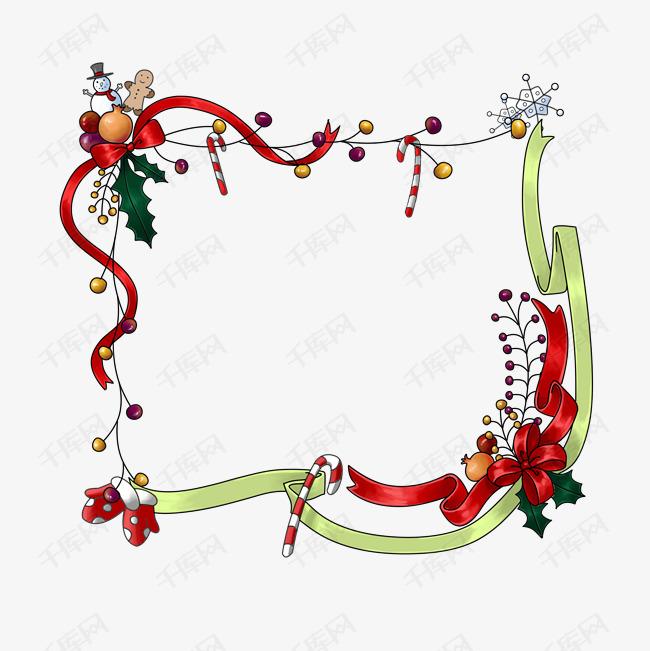 卡通手绘圣诞节装饰框素材图片免费下载 高清psd 千库网 图片编号11482975