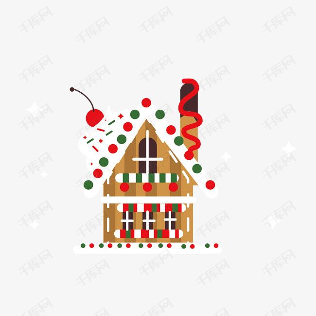 翻糖装饰圣诞节卡通蛋糕房子甜品美味手绘图片