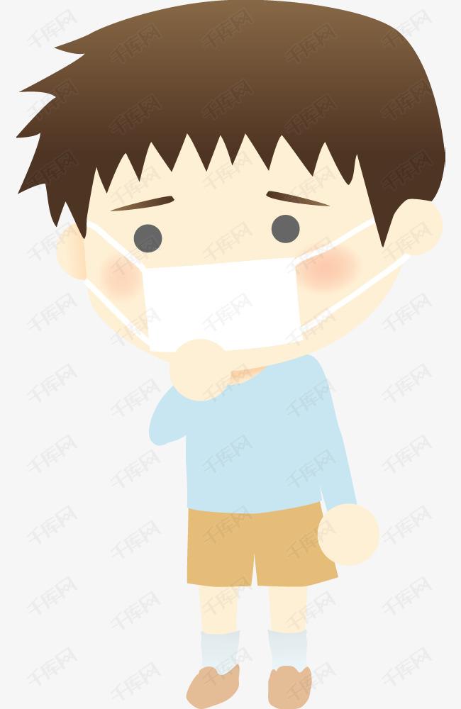 小男孩和口罩简笔画图片