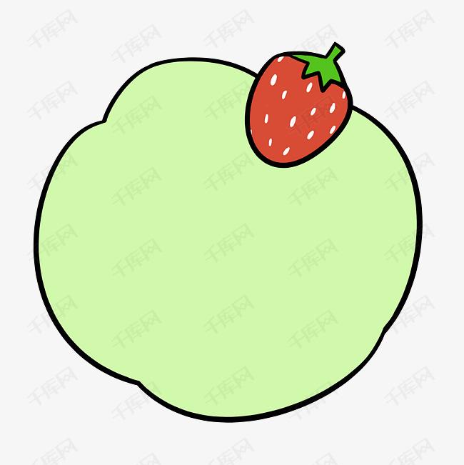 对话框矢量素材图片  草莓logo  人物图片