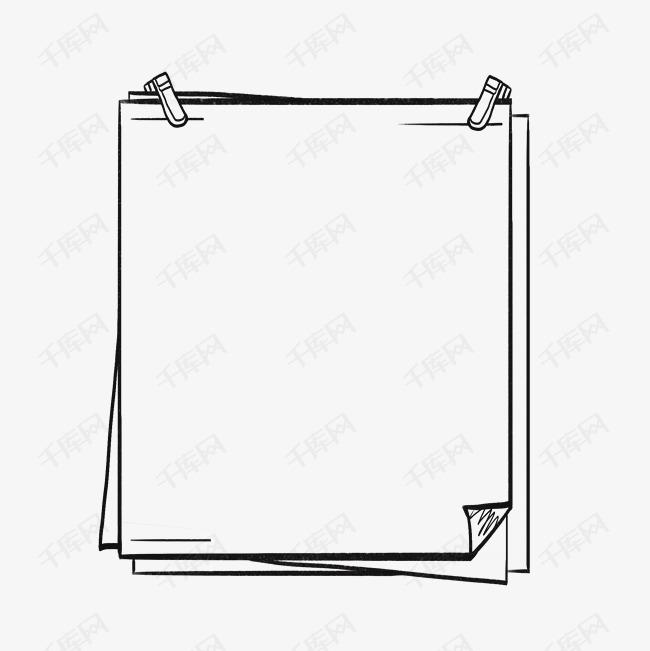 边框图片大全手绘可爱简单_花边边框简单漂亮
