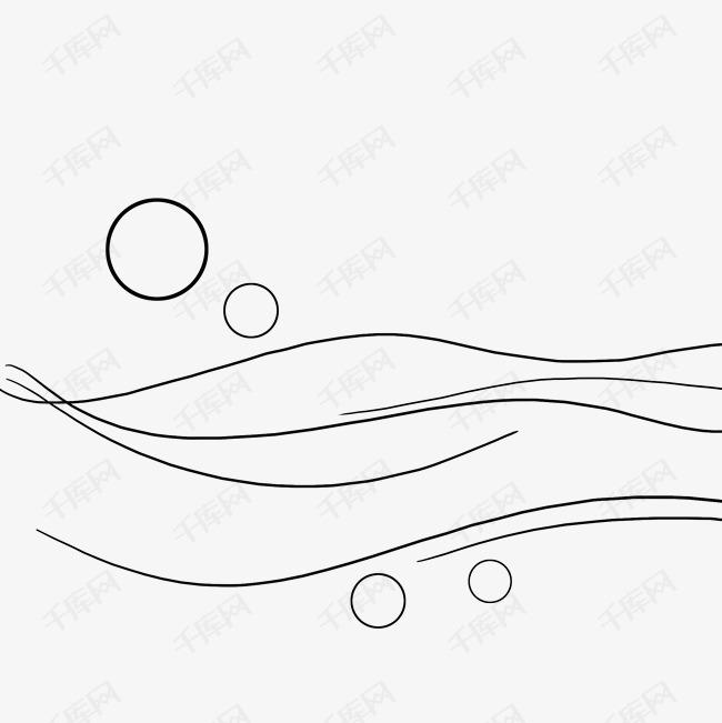 手绘线条线性图形水波浪素材图片免费下载 高清psd 千库网 图片编号11705068
