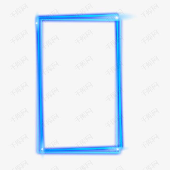 手绘长方形边框免抠图