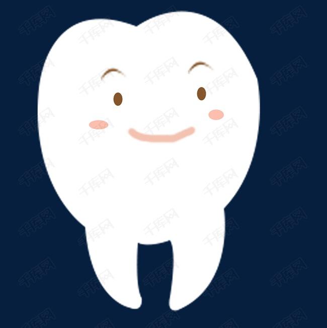 一颗可爱的牙齿表情包免抠图图片图片