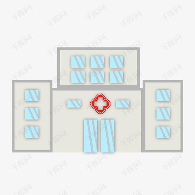 卡通医院建筑插画图片