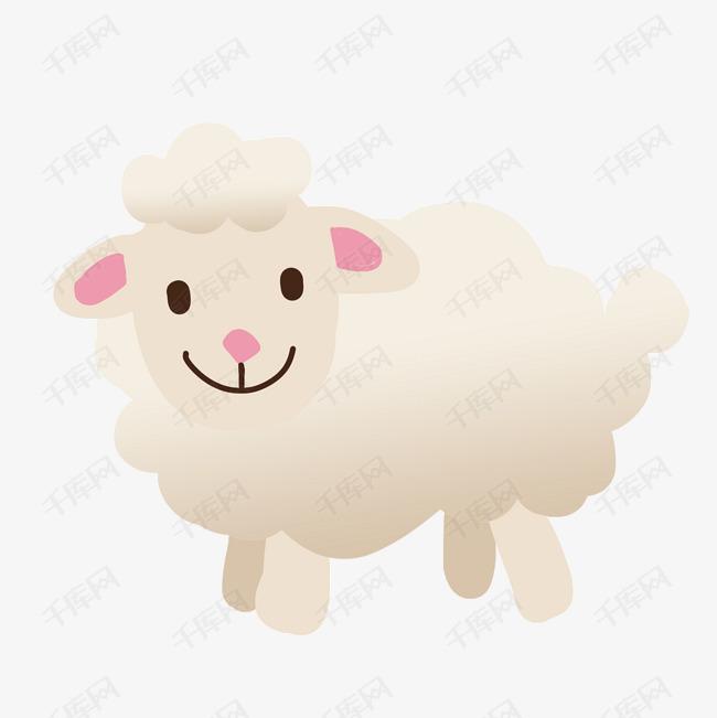 白色绵羊卡通动物免抠素材图片免费下载_高清psd_千库