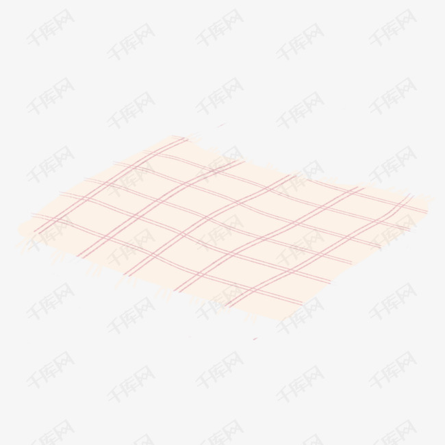 手绘卡通方格餐布免扣元素素材图片免费下载_高清psd