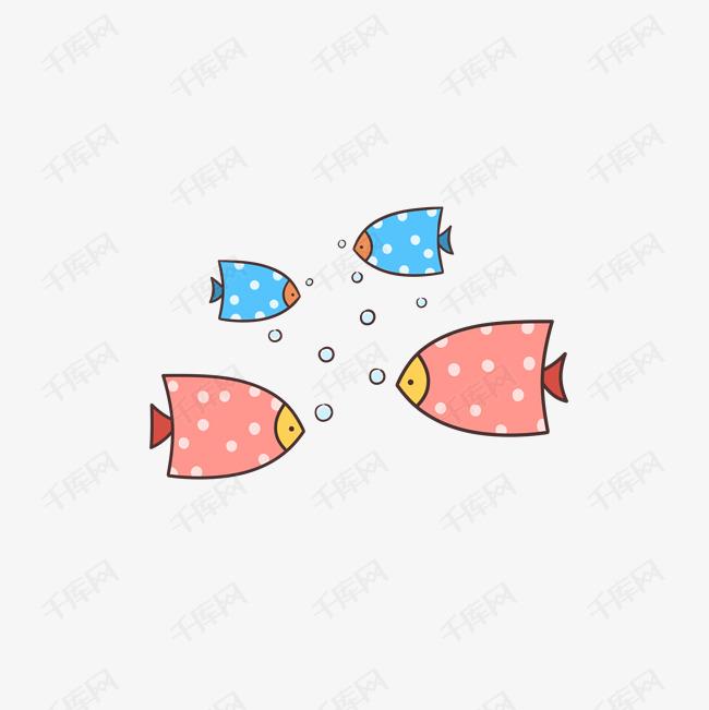 卡通手绘简笔彩色小鱼的素材免抠手绘室内家具简笔画素材卡通人物小鱼素材卡通小鱼简笔彩色小鱼卡通鱼儿手绘小鱼