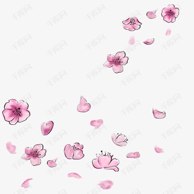 手绘花朵水彩画都素材图片免费下载_高清psd_千库网