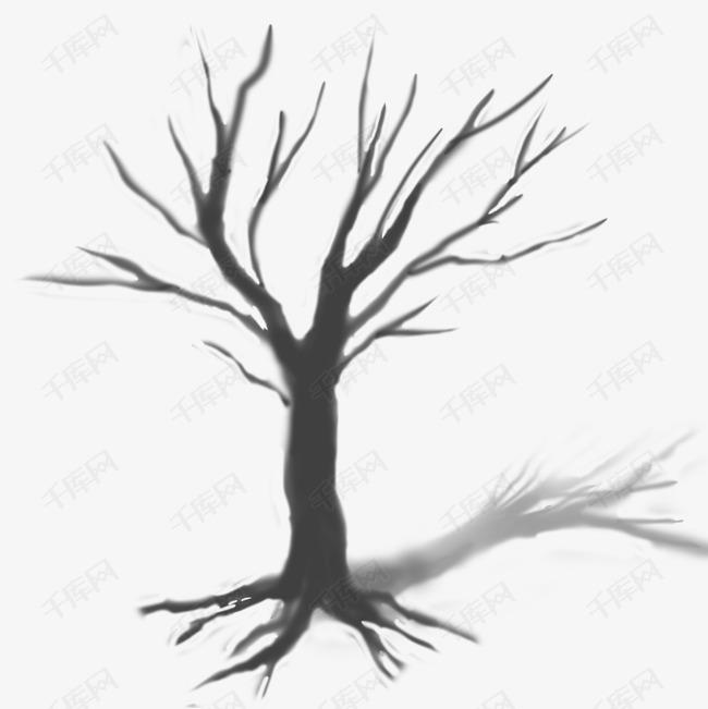 黑色枯树枝素材图片免费下载 千库网