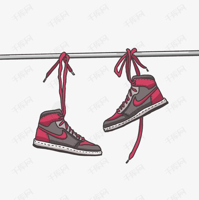 手绘水彩耐克运动鞋素材图片免费下载 千库网