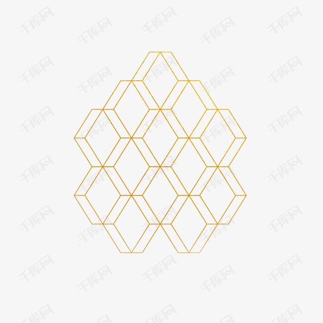 白底黄色边框蜂窝状背景图素材图片免费下载 高清图片pngpsd 千库网 图片编号7311472图片