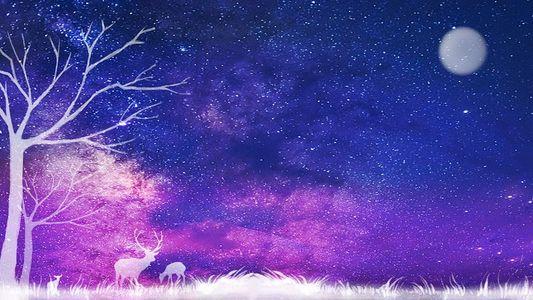 星空麋鹿图片唯美_梦幻麋鹿图片唯美